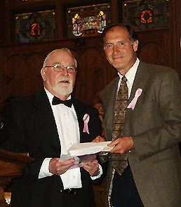 Presentation of donation by WCC at Sing for the Cure Concert